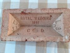 More details for princess diana and prince charles wedding commenrative brick