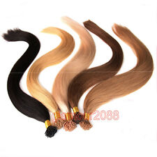 22inch Pre Bonded Stick I Tip 0.5g Brazilian Remy Human Hair Extensions Straight