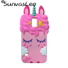 3D Pink Unicorn Soft Silicone Case Skin Shell For Samsung Galaxy S5 Back Cover