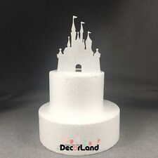 Glitter Silver Castle Cake Topper Fairy Tale Princess Girl Birthday Party Cake