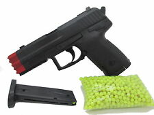 1x Erbsenpistole +1000 Kugeln Karneval Spielzeugwaffe Pistole Spielzeugpistole 3