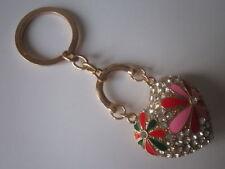 Enamel Pink Costume Handbag Jewellery & Mobile Charms