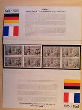 Bund 1351( bzw. RF 263 )Gedenkblatt Dtsch.-Franz.-Freundschaft, postfrisch