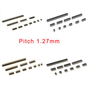 10pcs Single/Double Row Straight/SMD Female/Male Pin Header Pitch 1.27mm 2P-50P