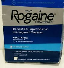 MEN'S ROGAINE EXTRA STRENGTH 5% TOPICAL SOLUTION 3 MONTH exp  2022 DAMAGE BOX