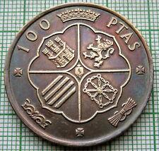 SPAIN 1966 100 PESETAS, FRANCISCO FRANCO, SILVER TONED