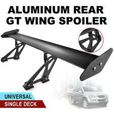 Universal Sedan Aluminum GT Rear Trunk Wing Racing Spoiler Black