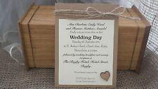 Wedding Invitation Handmade Vintage Bespoke with envelope