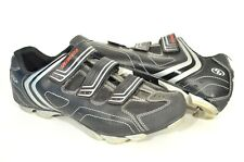 Specialized 46 / 12 Black Leather Mountain Biking Strap Cycling Shoes 6118-4045