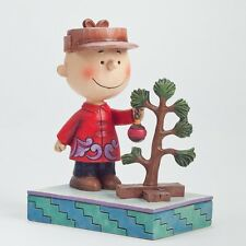 Snoopy Christmas Figurine Peanuts Charlie Brown Jim Shore Pathetic Tree 4042371