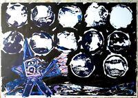 Gianpaolo Berto - tecnica mista su carta, opera originale del 2011, firmata