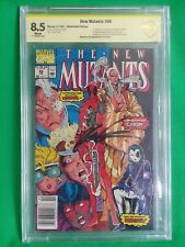 Signed 8.5 New Mutants #98 1st DEADPOOL APPEARANCE NOT CGC KEY ISSUE