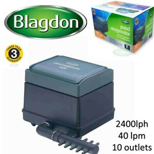 Blagdon Pond Koi air Oxygenator 2400 40lpm air pump koi pond hydroponics