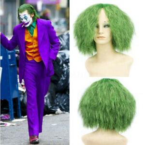 Joaquin Phoenix Joker Wig Cosplay Arthur Fleck Prop For Batman Green Curly  A