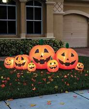 8' Inflatable Lighted Pumpkin Patch Outdoor Fall Halloween Yard Decor
