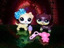 Littlest Pet Shop LPS #83 Retriever #84 Dachshund Original Christmas Gift Bonus