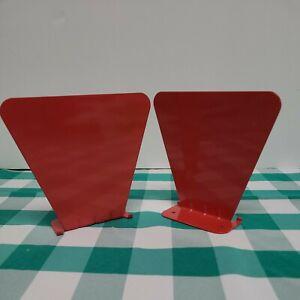 Metal Invisable Concealed Bookshelf Set of 2 - Red