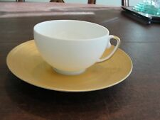 COQUET HEMISPHERE GOLD ONE CUP AND SAUCER