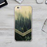 Nature Floral Geometry Chevron Silicone Cover Case Apple iPhone XS XR 11 Pro Max