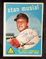 1959 Topps STAN MUSIAL #150 Signed Card St Louis Cardinals Team vtg Auto HOF 50s