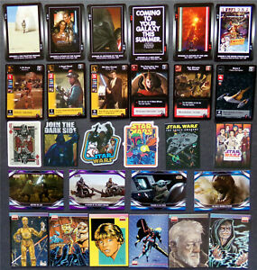 Star Wars Lot, Card & Sticker Mix, Poster Art, Mandalorian, TCG Game, Young Jedi