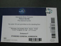 PAOLO NUTINI  O2 LONDON  30/10/2014  TICKET