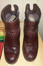 Clarks Ladies Active Air Leather Boots Size 7.5 Rich Brown **OFFERS**