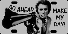 "Clint Eastwood Dirty Harry Go Ahead Make My Day Photo License Plate 12""x6"" NEW"