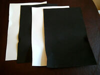 """Lot of 4 Foam Sheets 18"""" x 12"""" Crafting Pieces, 2 White, 2 Black"""