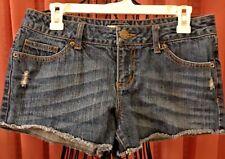 Juniors - S.O. - SO  - Blue Denim Frayed Daisy Duke Short Shorts - Size 11 -NWOT