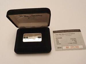 1oz Statue of Liberty Silver Ingot Bullion Bar in presentation box & COA #71740