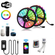10M 32.8Ft WiFi 300 LED Strip Light 5050 RGB Waterproof KET Alexa Google Home