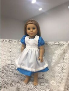 "Alice In Wonderland Inspired Dress Fits 18"" American girl Doll Clothes"