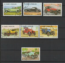 voiture et tacot 1983 St Tome et Principe 7 timbres oblitérés / T1396