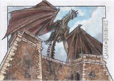 Game of Thrones Season 7, Adam Cleveland 'Dragon' Sketch Card