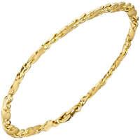 4,4mm Armband Goldarmband Armkette aus 585 Gold Gelbgold, teilmatt, 21cm, Damen