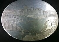 WENDELL AUGUST ALUMINUM PITTSBURGH PA TRAY MAJESTIC STEAMBOAT RIVERBOAT TRIVET