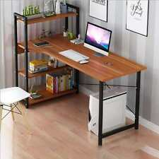 Laptop Desk with Shelves 57 Inch Corner Computer Desk with CPU Stand Home office