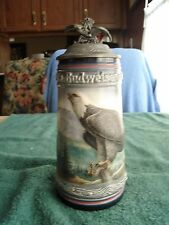 !991 Budweiser Birds of Prey The American Eagle  Bald Eagle Stein