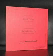 Galerie Barbara Farber # DEATH POEMS#ed. of 250 copies, artist book, SIGNED,mint