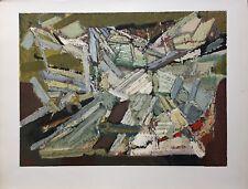 De Staël Nicolas Lithographie sur velin Mourlot 1974 art abstrait abstraction