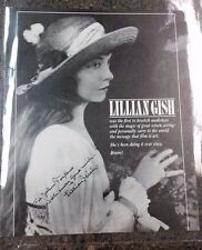 Lillian Gish Autograph