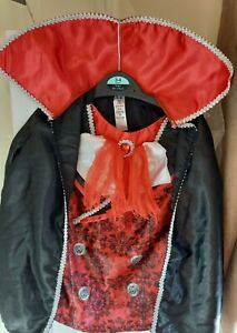 BOYS SIZE 5-6 YEARS VAMPIRE/DRACULA STYLE COSTUME TOP GOOD CONDITION