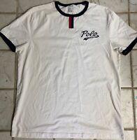Mens Polo Ralph Lauren Polo Script Ringer T-Shirt White Size XL