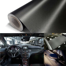 100x20cm DIY 3D Black Carbon Fiber Vinyl Car Wrap Sheet Roll Film Sticker Decal