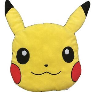 Pikachu Head Character Pillow Pokemon Plush 16 x 16 Inch 2016 Northwest Nintendo