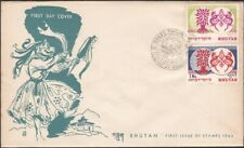 BHUTAN, 1962. First Day Native Cover Refugee Year 8-9