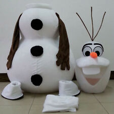 White Olaf Snowman Mascot Cartoon Costume Adult