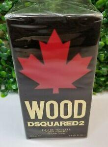 Wood for Men by Dsquared2 Eau De Toilette EDT Spray 3.4 oz - NEW IN BOX (SEALED)