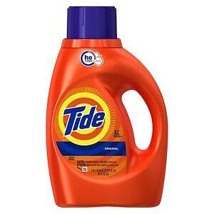 Tide High Efficiency Liquid Laundry Detergent, Original Scent, 50fl oz ,32 Loads